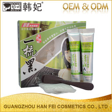 Fashion fast eco-friendly magic black hair dye cream mild the black magic combs hair dye