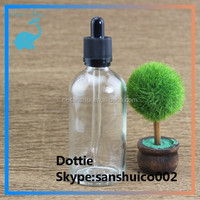 30ml e-liquid bottle 60ml 120ml clear glass dropper bottle with childproof tamper evident cap