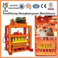 Christmas promo QT4-40 manual concrete blocks machine used block making machine for sale