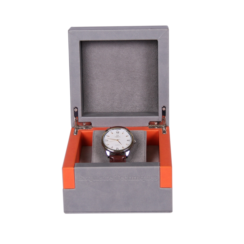 Custom Logo luxury black jewelry packing storage cardboard gift packaging hard paper watch box
