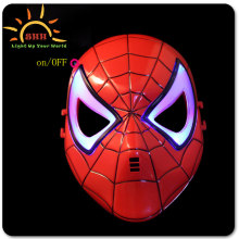 Party use led light up Cool spider man mask wholesale for adult