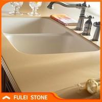 Artificial bathroom tops starlight white quartz stone countertop