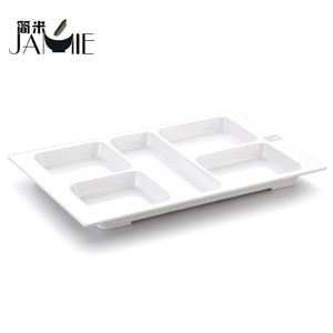 Wholesale square blank 100% melamine divided plate