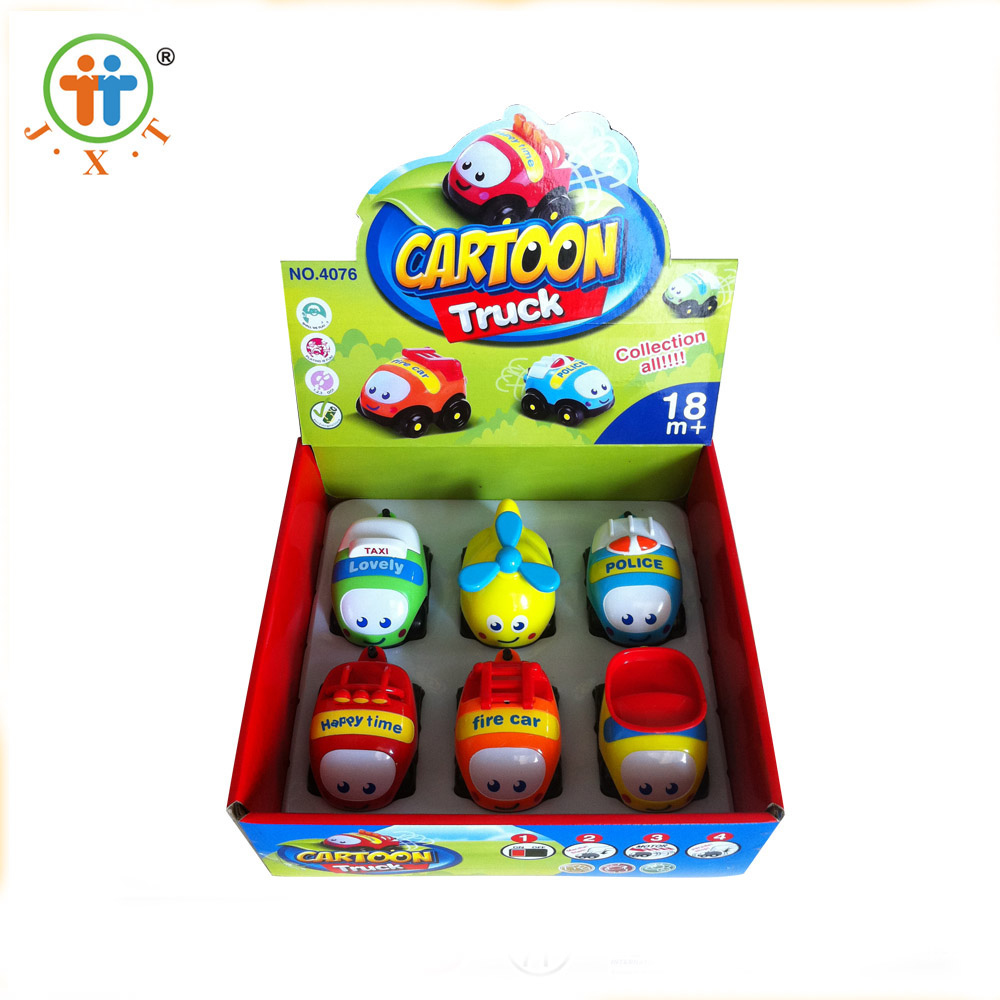 new creative funny mini cartoon B/O truck cheap small plastic toys for kids