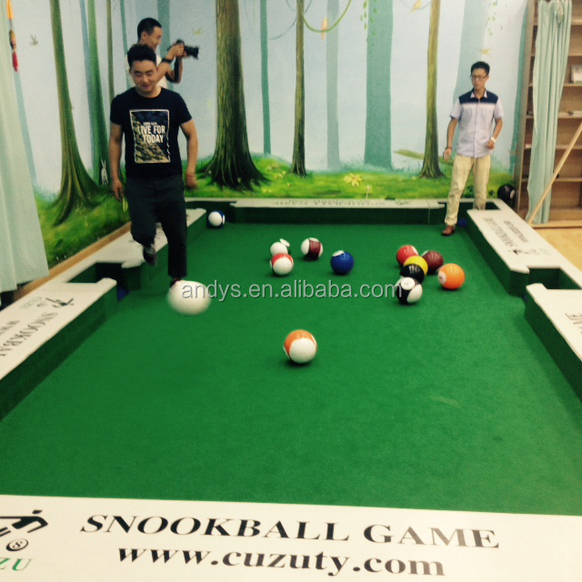 High quality newest sports game snookball game football for Pool table 6 x 3
