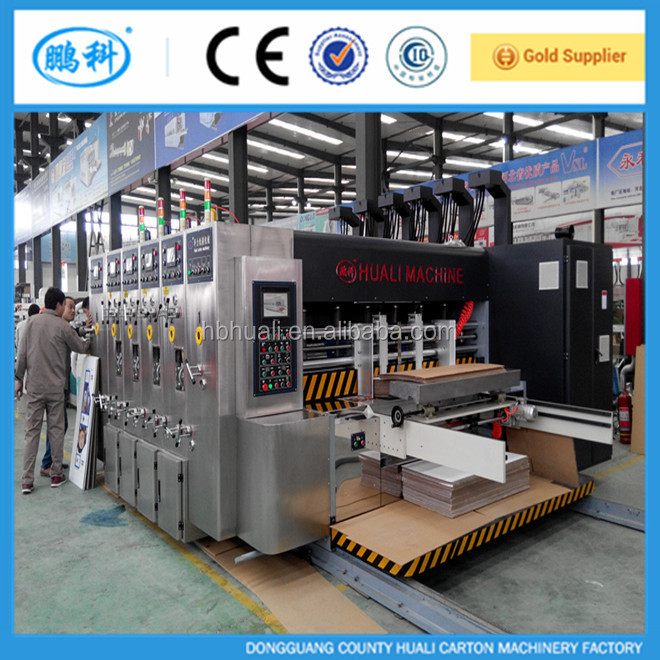 high speed automatic carton flexo printing slotting die cutting machine for corrugated cardboard