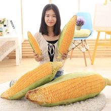 OXGIFT Wholesale Plush 3D Soft high elastic simulation Corn large pillow Cushions Pillows