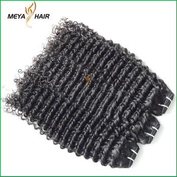 Indian angels weave cuticle aligned hair curly hair weft large stock