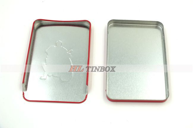 Rectangular Sliding Tin Can for Mint Candy Packaging