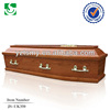 High quality solid wood fine craved European coffin sales