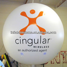 custom big inflatable round balloon/helium balloon