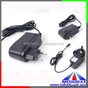 AC input led adapter, Wall Mount Power Supply, 2.1mm DC cable led power transformer
