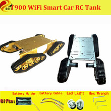 Official DOIT T900 4WD Metal Wall-E Tank Track Chassis Tracked Vehicle Mobile Platform Crawler Walee DIY RC Toy