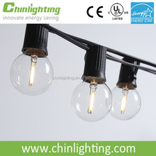 UL Listed Indoor & Outdoor Commercial Use, Wedding Setting, Patio String e17 g40 led filament string light