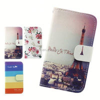Wholesale Card holder Customized leather Wallet Case For BLU Studio 5.5/ D610a/ D610i
