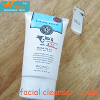 Cosmetic Labels Facial Cleanser Tube Sticker