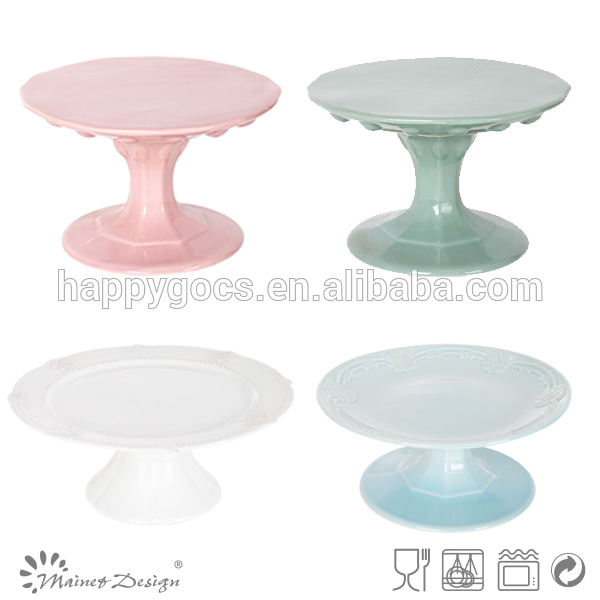 2015 new design all size stoneware wedding cake stand,cake decorating,ceramic cake stand