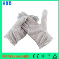 S M L Paml Fit Cleanroom Gloves PVC Dotted Gloves