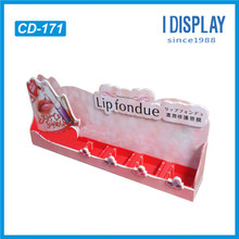 POP Christmas custom retail lipstick cardboard counter display stand with insert