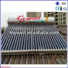 vacuum tube solar water heater 100L-300L for family use