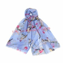 newfangle colorful good character wholesale birdie printed rectangle girls schal muffler