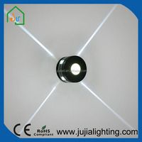 5W 4 direction lighting IP45 Indoor LED wall light Residential wall light with Cylinder cover
