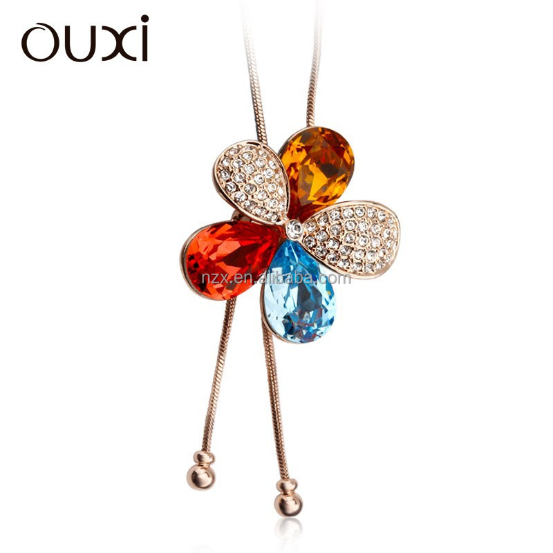 OUXI New arrival ladies fashion latest fashion jeans chain 11041-1