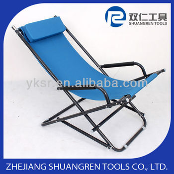 Folding armrest chair with pillow bench chair