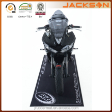 Company brand designed motorcycle mats with rubber backing