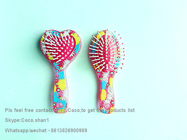 Top Quality kids mini hair brushes many disgns welcom to ask hair accessories products list