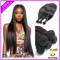 Hot selling thickest ends raw unprocessed brazilian hair styles virgin brazilian straight hair