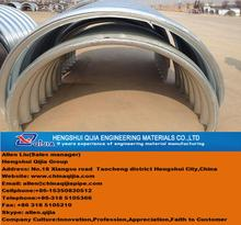 hot dipped galvanized corrugated metal pipe manufacture by German equipment and technical