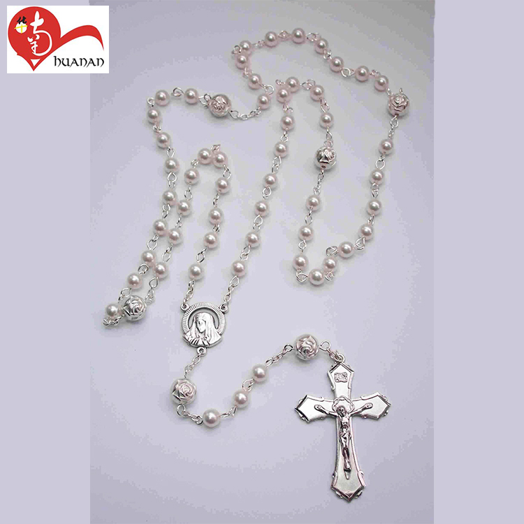 Huanan hot sell wholesale 6mm catholic religious orthodox rosary beads necklace