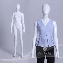 Shop Dispaly White Standing Female Plastic Mannequin Women Model