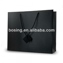 black paper shopping bags for trade show