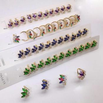Ring 2 Xuping Yiwu Small Commodity City hot-selling style multicolor stone ring