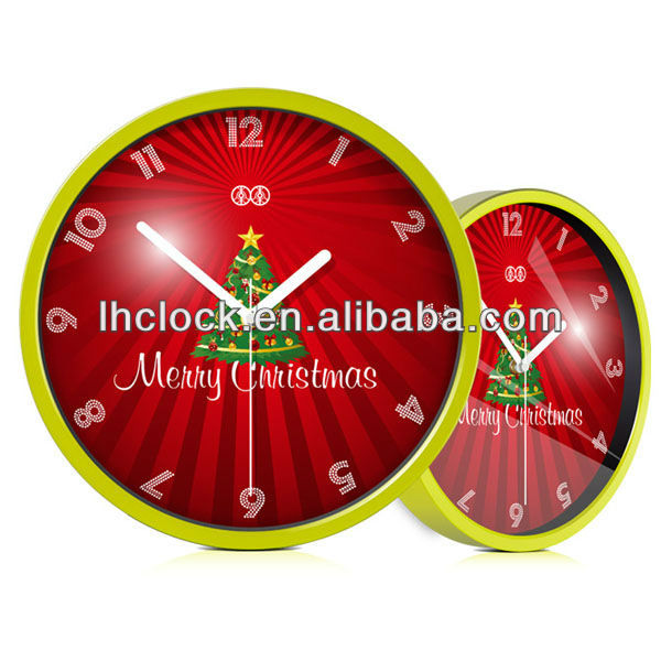 cheap christmas wall clock