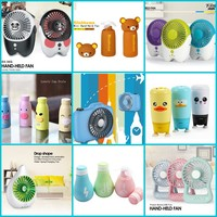 mini portable fan handheld high powered rechargeable with powerbank and led light