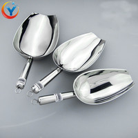 Stainless steel thick polished ice shovel \ melon seeds shovel wholesale ice scoop