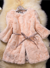 women long winter coat, fake fur coat with belt