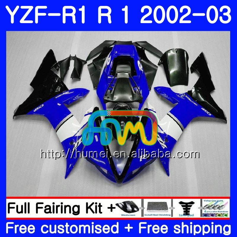 Body For YAMAHA YZF 1000 YZFR1 <strong>02</strong> <strong>03</strong> YZF-1000 Bodywork 99HM25 YZF blue black R 1 YZF <strong>R1</strong> <strong>02</strong> <strong>03</strong> YZF1000 YZF-<strong>R1</strong> 2002 2003 <strong>Fairing</strong>