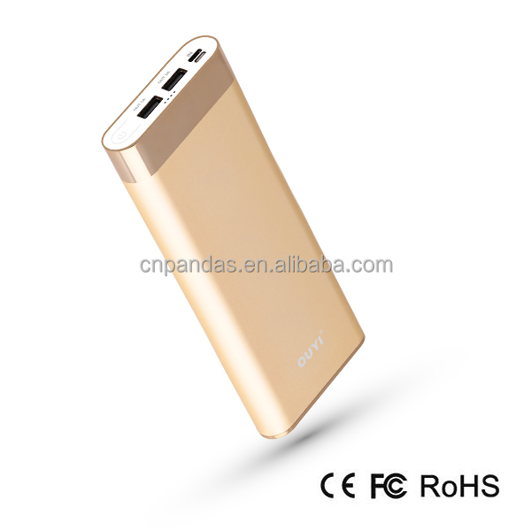 High capacity 1600mAh power bank with two input and two output, Type-C lightning and Micro port are avaliable