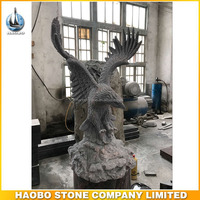 Hand Carved Granite Outdoor Large Eagle Statues for Sale