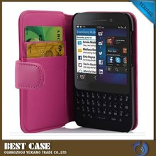 wallet style leather cover with card holder flip case for blackberry q5