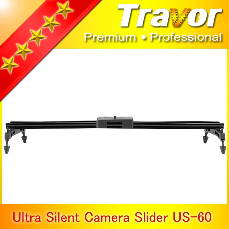 Travor 60cm 24'' Double-track Sliding-pad Video Track Slider Dolly Stabilizer System for DSLR Camcorders