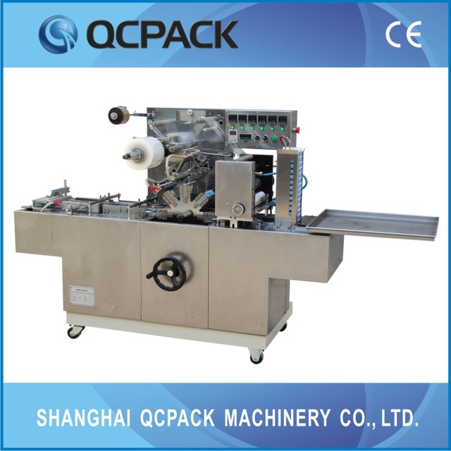 speed adjustable cellophane wrapper machine for handkerchief