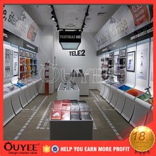 ouyee 298 full equipped mobile phone shop design counter design for garment store