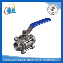 Trade Assurance king pin cast 3PC stainless steel ball valve
