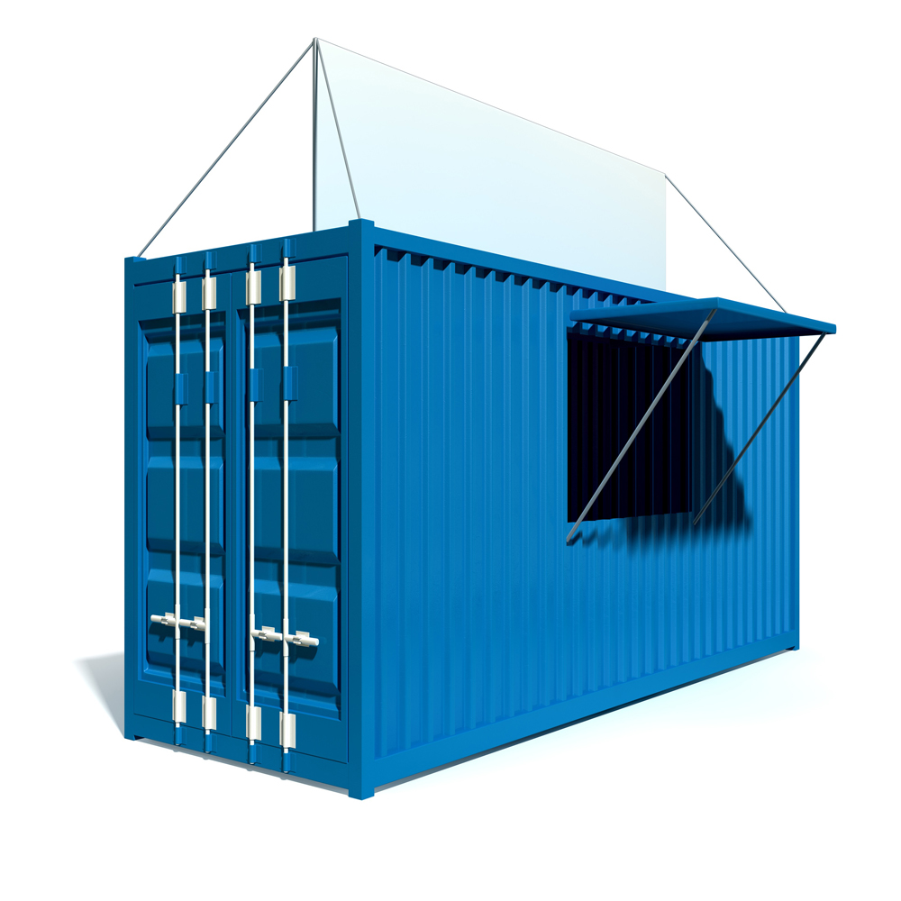 flat pack container house/fast food containers mobile food shop