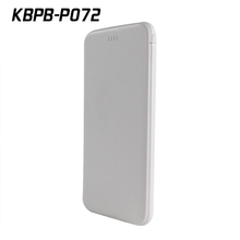 P072 5000mAh Portable built-in cable power bank for mobile phone with chargering cable